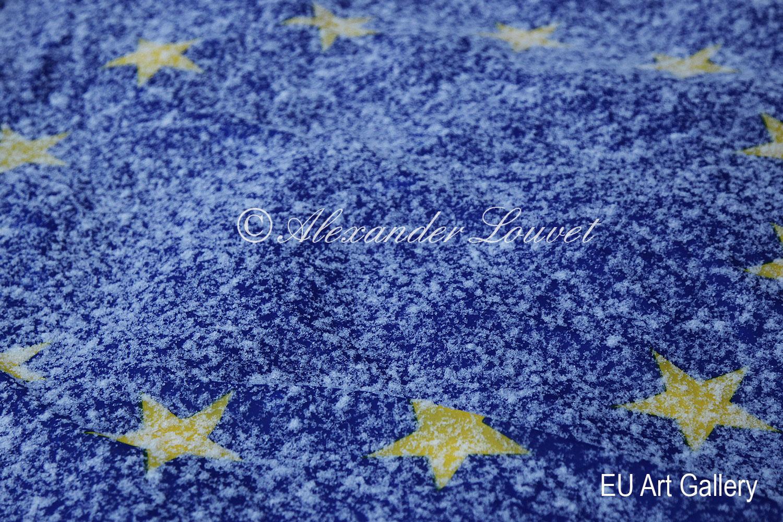 """Artphoto - """"EU Flag Frozen I"""" 70x50"""