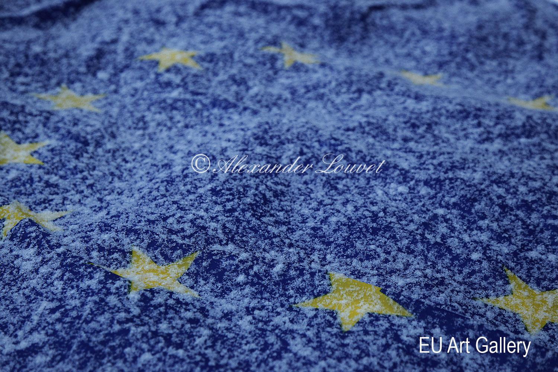 """Artphoto - """"EU Flag Frozen II"""" 70x50"""